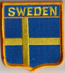 Sweden Embroidered Flag Patch, style 06.